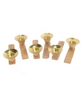 Porte-bougies pour pyramide à étages à l'unité