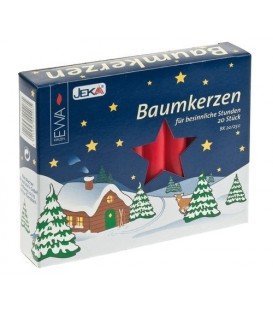 Lot -50% 100 bougies de Noël Baumkerzen 13 mm
