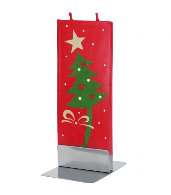 Bougie de Noel design sapin de Noël et étoile