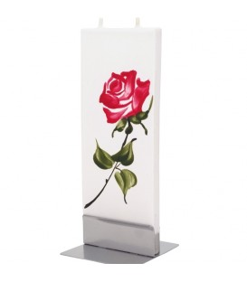 Bougie décorative motif rose rouge