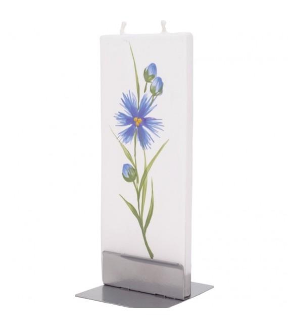 Bougie décorative motif fleur d'oeillet