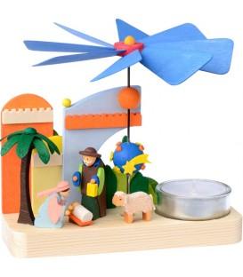 Petit carrousel en bois crèche de Noël