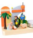 carrousel en bois crèche de Noël