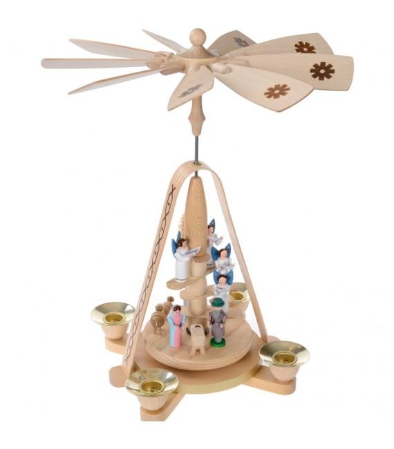 carrousel en bois et anges blancs