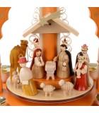 Pyramide de Noël avec creche