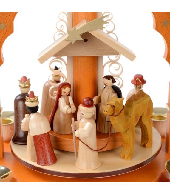 creche de Noël allemande pyramide