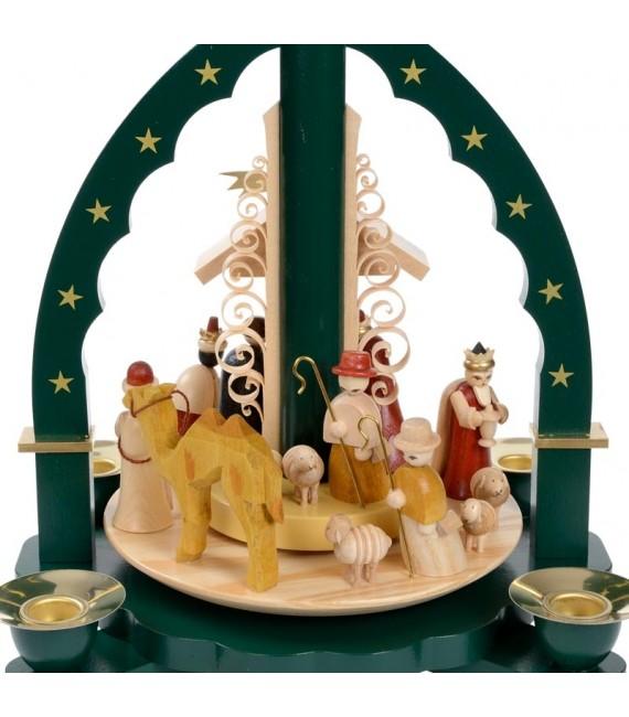 Pyramide de Noël Allemande avec une arche couleur verte