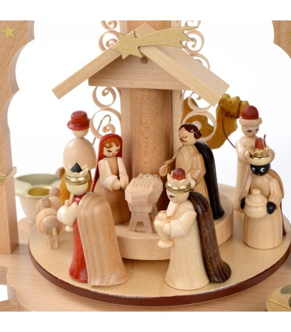 Pyramide avec jesus, vierge marie et joseph