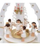 carrousel de noel ange blanc