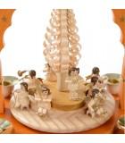 Pyramide à bougies et anges musiciens