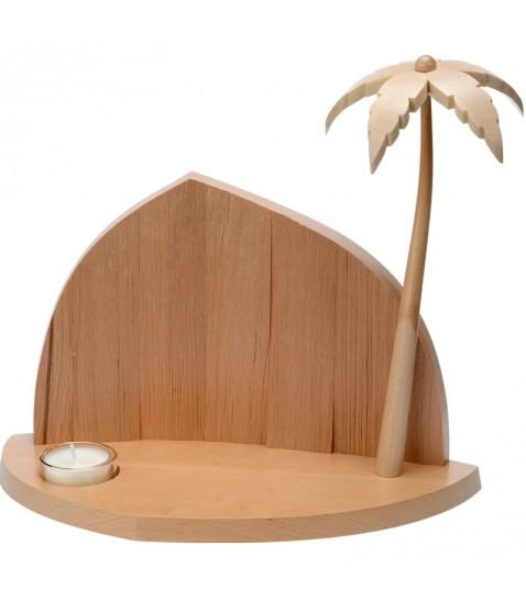 Faire une cr che de no l cr che vide avec palmier et - Fabriquer une creche de noel en bois ...