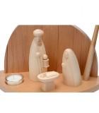 Crèche de Noel avec enfant Jésus, Joseph et Marie