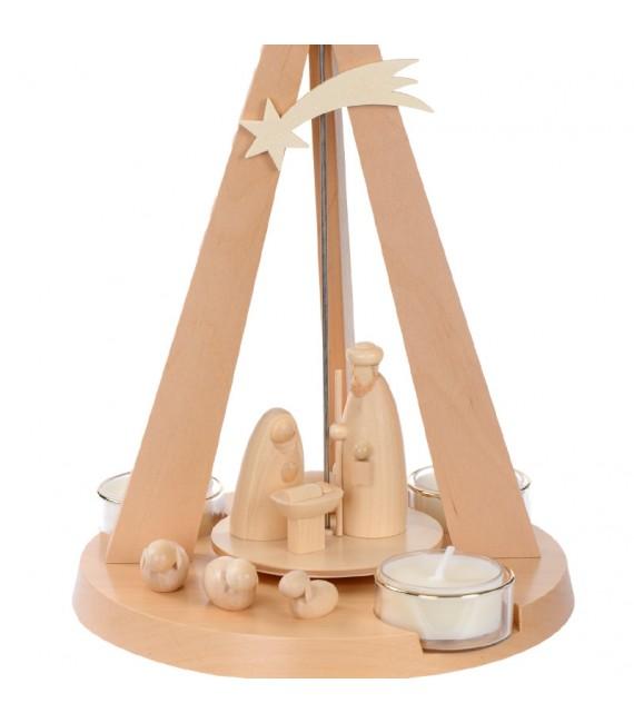 Pyramide de Noël bois moderne