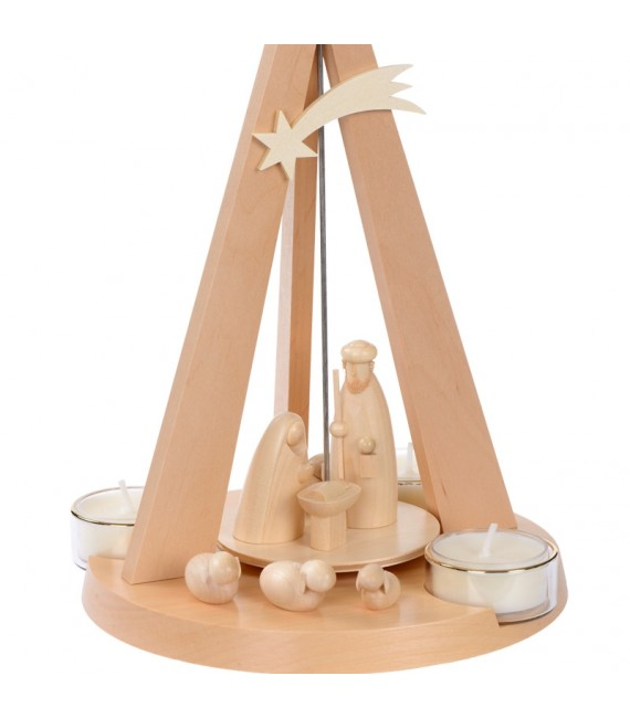 Pyramide Noël bois