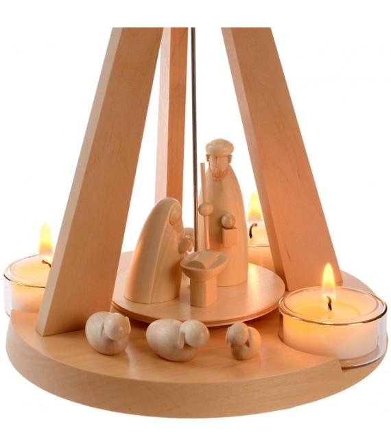 Pyramide de Noël bois au design moderne