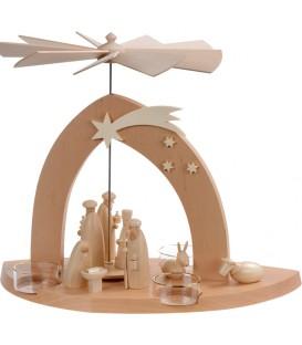 Arche Pyramide moderne de Noël en bois d'aulne