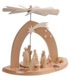 Pyramide de Noël contemporaine bois