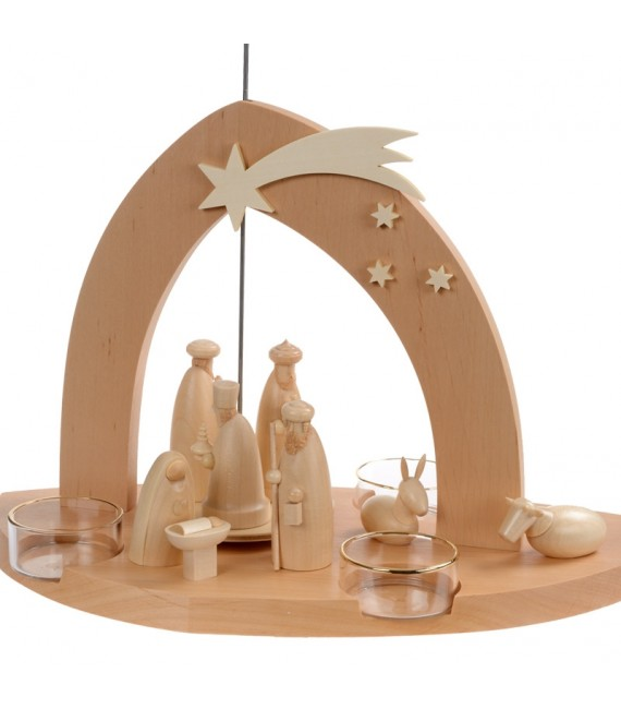 Pyramide de Noël moderne bois naturel