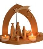 Pyramide de Noël illuminée