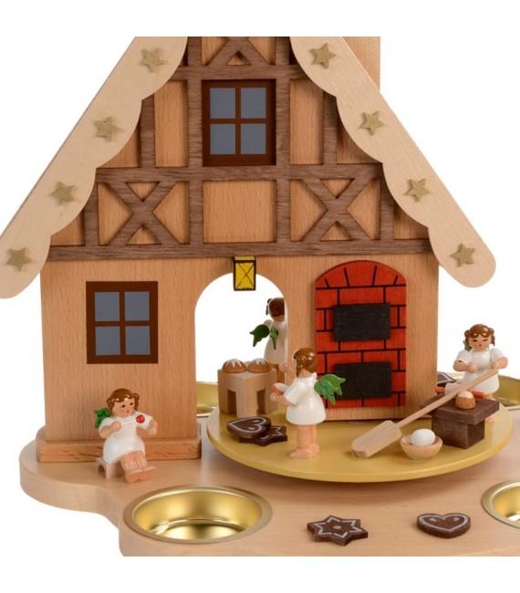 Manège de Noël enfant anges patissiers