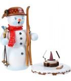 Personnage brûle-encens bonhomme de neige