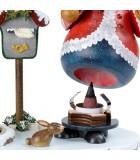 Personnage porte encens père Noël avec bougeoir