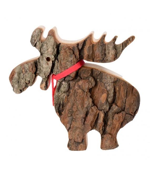 Elan en bois avec noeud rouge 14 cm