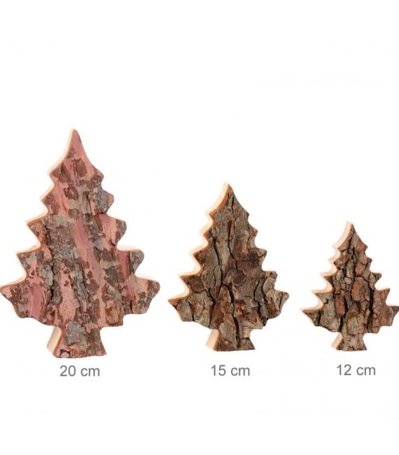 Sapin en bois déco en écorce 12 cm