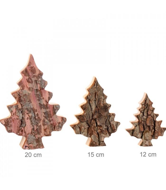 Sapin en bois d co corce d 39 arbre 12 cm for Sapin deco en bois