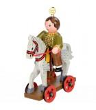 Noël d'antan, enfant sur un cheval de bois,