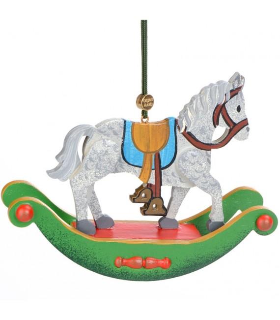 Noël d'antan, cheval à bascule en bois