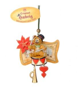 Décoration sapin de Noël vintage, ourson et tambour