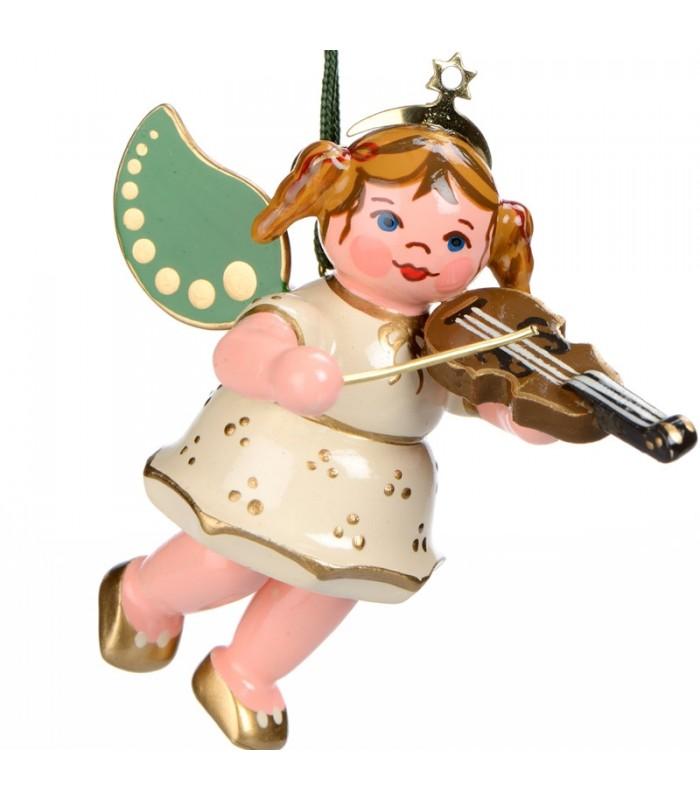 Ange de no l pour sapin ange blanc et violon - Ange pour cime de sapin de noel ...
