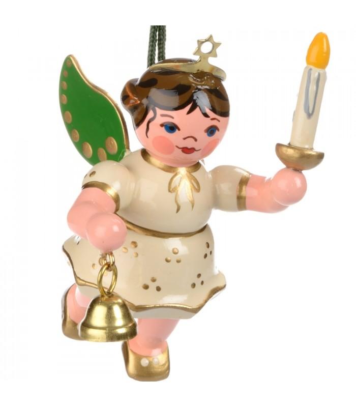Ange pour sapin de no l ange blanc avec une bougie - Ange sapin noel ...
