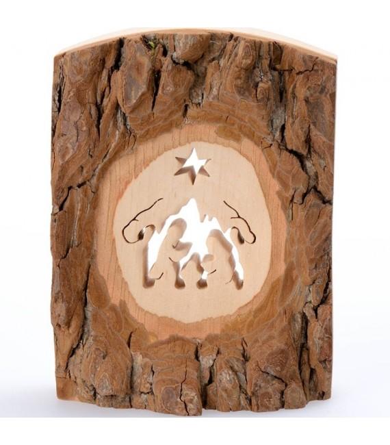 Crèche de Noel en écorce de bois, petite taille