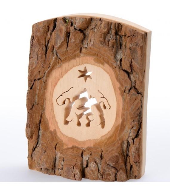 Crèche à poser en écorce de bois, 11 cm