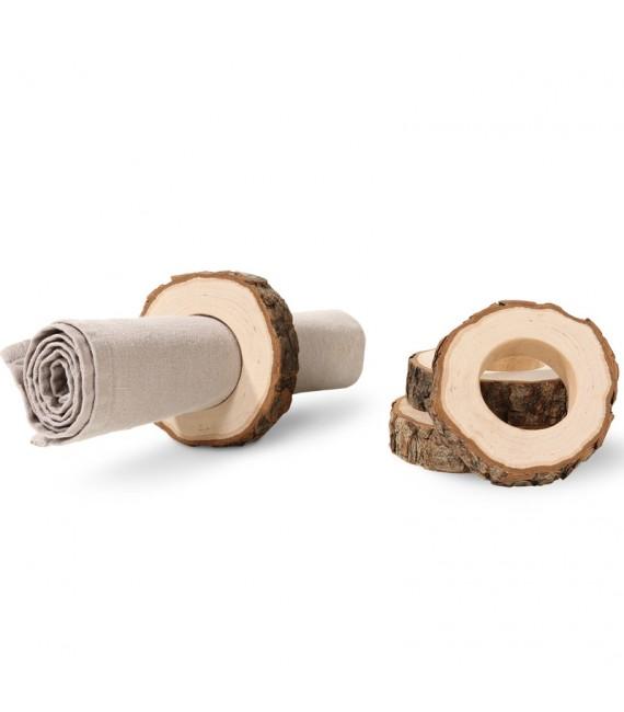 Rond de serviette en bois (4 pièces)