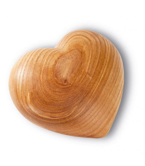 Grand coeur en bois, 11 cm