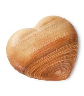 Grand coeur en bois, 17 cm