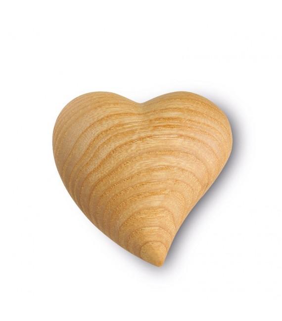 Petit coeur en bois asymétrique, 4 cm