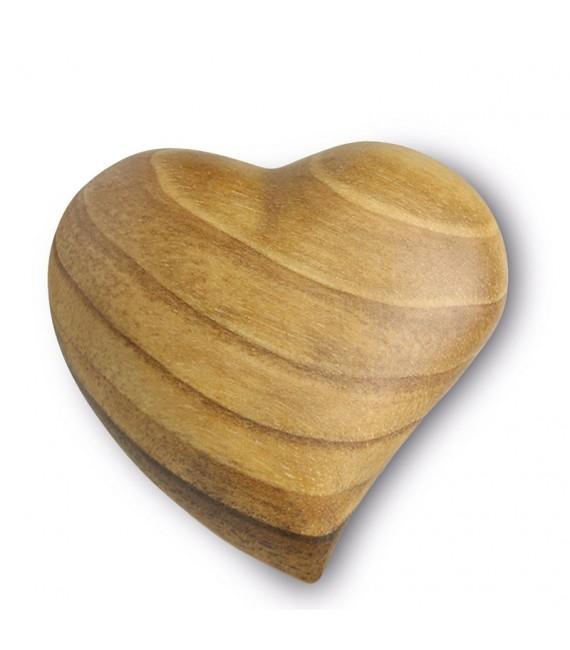 Coeur en bois asymétrique, 5 cm