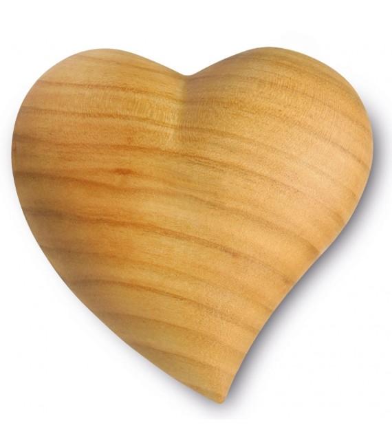 Coeur en bois asymétrique, 7,5 cm