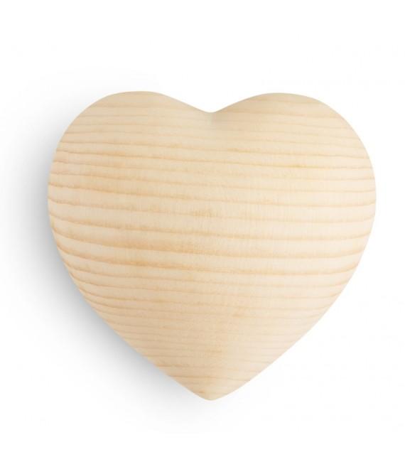 Coeur en bois de sapin, 7 cm