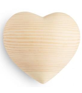 Coeur en bois de sapin, 8 cm