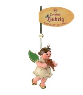 Déco sapin de Noël, ange et flute de pan