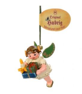 Déco sapin de Noël, ange et paquets cadeaux