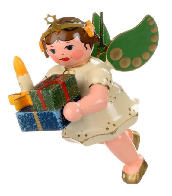 Noël d'antan, ange pour sapin et paquets cadeaux