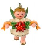 Noël d'antan, ange pour sapin et couronne de fleurs