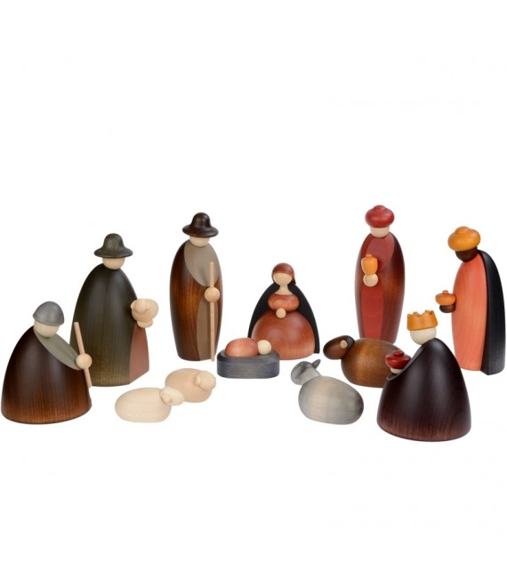 personnages creche de noel s rie compl te 12 figurines 12 cm decos noel. Black Bedroom Furniture Sets. Home Design Ideas