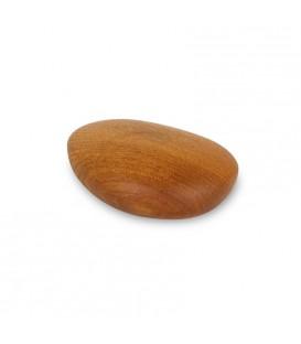 Caillou en bois poli teinté, 5,5 cm